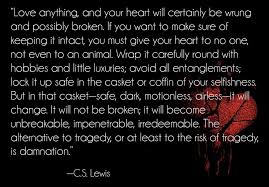 Quoted Meaning New Quote] CS Lewis On The Danger Of Love A Legacy Of Faith