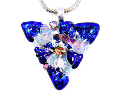 mary cremation triange heart memorial pendant cremation ashes