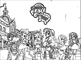 Equestria Girls Coloring Pages With My Little Pony New Home Within