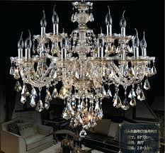 smoke crystal chandelier cognac black top luxury arms large chandeliers re foucaults orb 60 smoke crystal chandelier