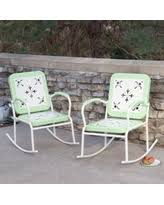 retro metal patio chairs. Outdoor Coral Coast Paradise Cove Retro Metal Rocking Chairs - Set Of 2 Mint Green Patio P