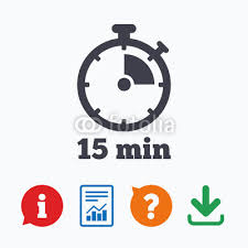 Timer For 15 Min Timer Sign Icon 15 Minutes Stopwatch Symbol Buy Photos Ap