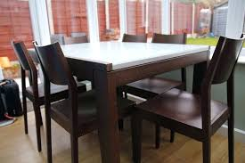 dining tables glass extendable dining table and 6 chairs wood top set cs in arctic