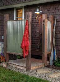 diy outdoor shower enclosure vinyl simple pvc