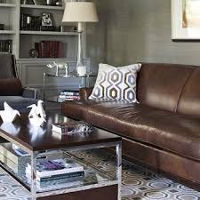 awesome rug for brown couch sofa with gray pillow design idea hexagon leather carpet furniture floor dark chocolate
