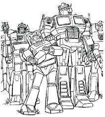 Free Transformer Coloring Pages Transformers Coloring Page