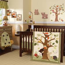 Bedroom:Natural Vintage Baby Room Decor With Green Quilt In Cradle Combined  Vintage Modern Tree