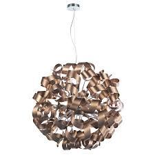Copper Ribbon Light Rawley 12 Light Ribbon Pendant Satin Copper