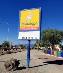 jackalope sign at entrance