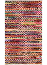 mandira recycled cotton rag rug stitch detail 75 x 135cm