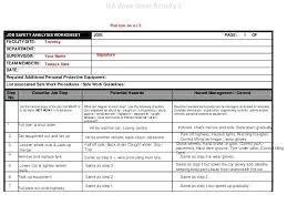 Job Hazard Analysis Worksheet Job Hazard Analysis Template Safety Electrical Jsa Form Getreach Co