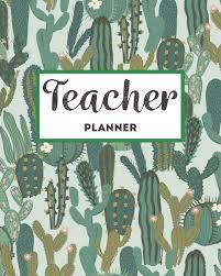 Teacher Planner Trendy Cactus And Succulent Classroom Organizer For