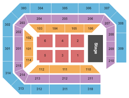 Ryan Center Seating Charts For All 2019 Events Ticketnetwork