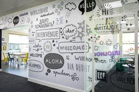 Office wall design Abstract Vinylimpressioncouk Custom Wall Graphics For Office Fit Out Projects Wall And Glass Manifestations For Commercial Interior Design Projects Lushome Vinylimpressioncouk Custom Wall Graphics For Office Fit Out