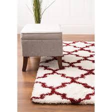 shag rugs. Shag Rug White \u0026 Brick Red High Quality Carpet Polypropylene-Shag Rug-Super Area Rugs