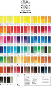 Astm Color Chart Winsor Newton Professional Water Colour Colour Chart In 2019