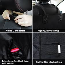 pet car seat cover dog safety mat cushion rear back seat protector seatbelt uk