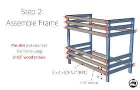 simple diy 2x4 bunk bed plans step 2