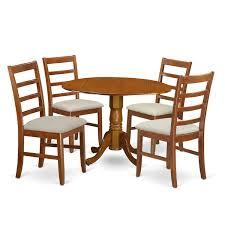 Amazoncom East West Furniture Dlpf5 Sbr C 5piece Small Kitchen