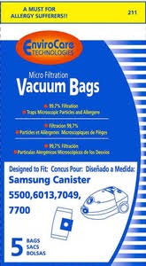envirocare vp50 vp 77 micro filtration bags 5pk for bissell 5528 5500 6013 7049 7700 vacuum cleaners