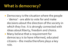 we media sample essay 9 what is democracy