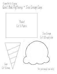 Quiet Book Patterns New Camille's Casa Quiet Book Pattern And Printable Ice Cream