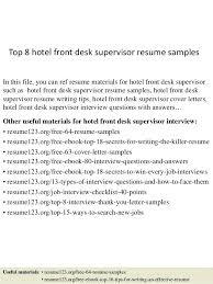 front desk supervisor resume top 8 hotel front desk supervisor resume  samples in this file you