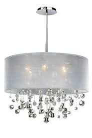 Full Size of Chandeliers Design:marvelous Chrome Chandelier Fides Shaded  Grey Effect Lamp Pendant Ceiling ...