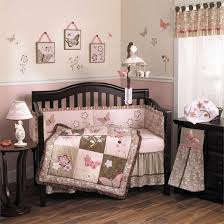 bedding cribs shabby chic baby girl penguin machine washable beige mini geometric cotton tale crib set