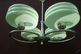 green art deco style ceiling light for