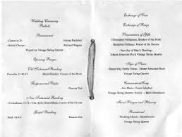 sample wedding program wording sample wedding programpage key west weddings