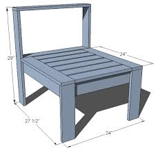 wood outdoor sectional. Ana White | Simple Modern Outdoor Sectional Armless Section - DIY Projects Wood