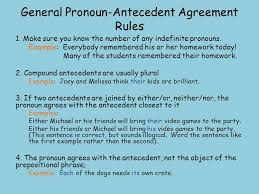 Pronoun Antecedent Agreement Pronoun Antecedent Agreement Ppt Video Online Download