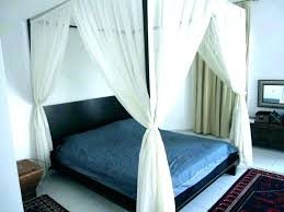 King Size Canopy Bed With Curtains Canopy Beds With Drapes King ...