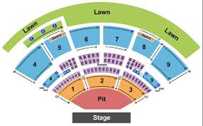 Shoreline Amphitheatre Seating Chart 54 Particular Blossom Music Center Seating Chart Pit