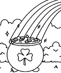 Shamrock Coloring Page Coloring Shamrock Color Page To Best Photos Of Coloring Pages Free