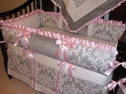 gray and pink crib bedding s french damask owl gray and pink crib bedding