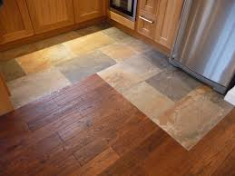Stone Kitchen Floor Floor Tile Patterns Kitchen This Darker Grout Works Because It