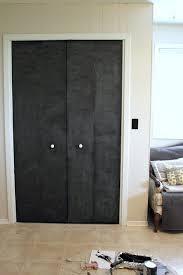 diy closet door update turn plain doors into a giant chalkboard the creek line house