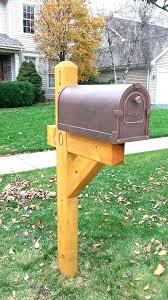 wooden mailbox designs. Wooden Mailbox Posts Custom Post Designs Stone
