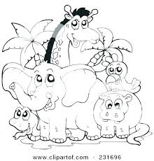 zoo animals coloring page zoo animals coloring pages free for children cute baby zoo animals coloring pages