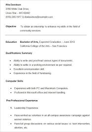 College Student Resume Format Cover Letter Format And Bussines