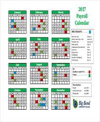 Payroll Calendar Template 100 Payroll Calendar Templates Sample Example Free Premium 2