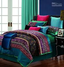 queen cotton comforter sets egyptian vintage paisley bedding set for king size decorations 17