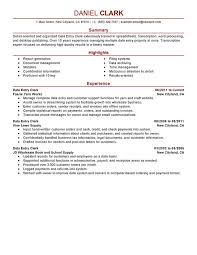 Data Entry Resume Fascinating Data Entry Clerk Resume Examples Free To Try Today MyPerfectResume