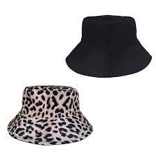 LYBAIN <b>Leopard Bucket</b> Hat for <b>Women</b> Fashion Reversible Design ...