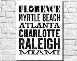 city names typographic print travel bucket list poster personalized art black white home decor places we ve been places lived subway sign on city names wall art with illustrations written creations by kathy r by thedreamygiraffe
