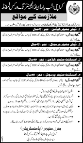 Jobs In Karachi Ship Yard And Engineering Works Published In Daily