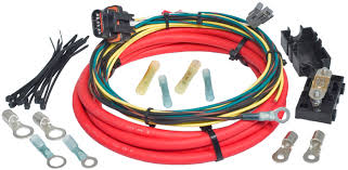 painless performance ford g alternator harness hotrod hotline large 6 gauge charge wire a weather proof fuse holder a heavy duty 150 amp inline fuse detailed instructions and all weatherproof splices ring