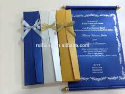 royal blue scroll wedding invitation card with box view popul on make your own scroll wedding